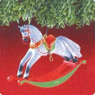 This is on my Wish List: 1998 Hallmark Rocking Horse Ornament