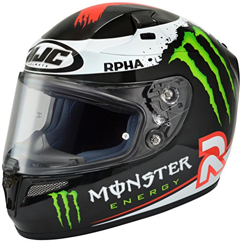 HJC RPHA-10 Jorge Full-Face Street Helmet (Lorenzo Replica Monster Energy, Small) (Monster Energy Dirt Bike compare prices)