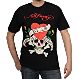 "Ed Hardy ""Love Kills Slowly"" Tattoo Screen Tee Shirt"