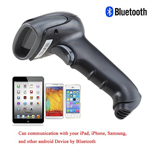 2In1 Handheld Wireless Bluetooth + Usb 2.0 Automatic Laser Barcode Scanner Rechargeable Barcode Bar-Code Handscannes Reader, With Mini Usb Receiver And Usb Cable, Plug And Play - Usb Charging, Flash Memory, For Iphone Ipad Mac Ios Samsung Lg Android Htc B