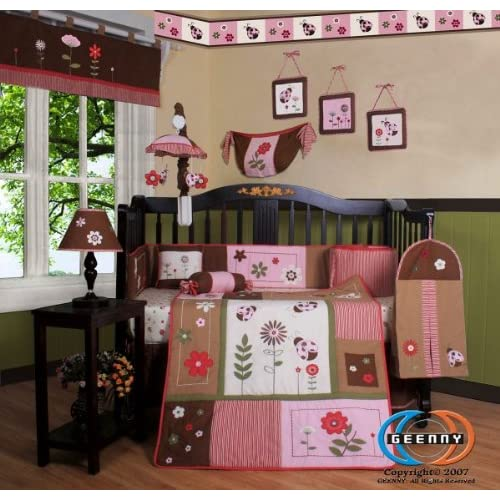Geenny Lamp Shade For Ladybug Crib Bedding Set