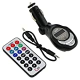 SAI Super Quality In-Car Wireless Hands-Free FM Modulator-Transmitter for MP3/MP4/iPod/CD/DVD Players - SD/Memory Card/Flash Slot/USB Port - LCD Display - Cigarette Lighter Plug - Includes Remote Control