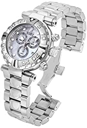 New Mens Invicta 17681 Subaqua Reserve Swiss Chronograph Silver MOP Dial Watch