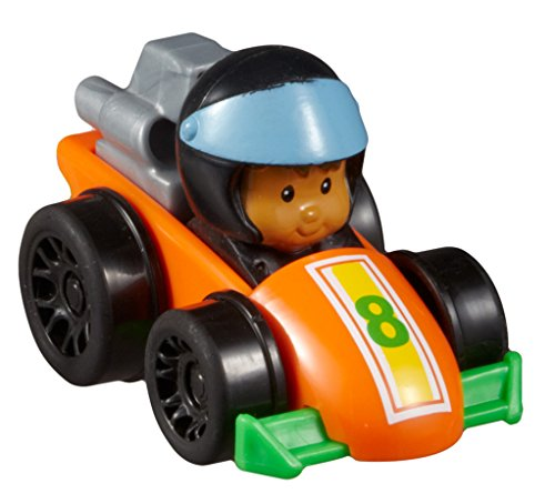 Fisher-Price Little People Wheelies Race Car and Koby - 1