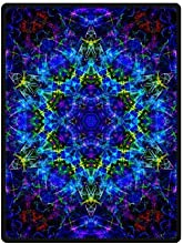 Best-selling Trippy Psychedelic 58quotx 80quot Large Fleece Travel Blanket with Standard Size