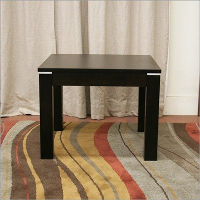 Image of Baxton Studio Fairfield Modern Square End Table in Dark Brown (TCV-1146BRC-DW)