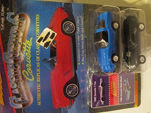 Johnny Lightning Classic Customs Corvette: 1982 Corvette T-Top & 1965 Corvette Mako Shark Series 3