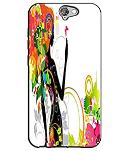 EU4IA Beautiful Lady Pattern MATTE FINISH 3D Back Cover Case For HTC ONE A9 -...