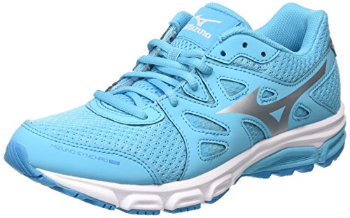 Mizuno Synchro Md, Scarpe Running Donna, Blu (Blue Atoll/Silver/Dark Shadow), 38.5