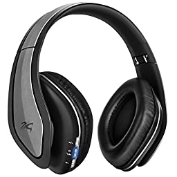 Sentey Bluetooth Headphones Headset with Microphone Wireless Improved Audio Driver Audiophile Hard Carrying Case and Audio Cable Inc Ls-4560 H9 Pro for Pc Mac SmartPhones Computers Men Kids Girls