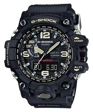 Casio G-Shock Mudmaster Black Dial SS Chrono Quartz Men's Watch GWG1000-1ADR