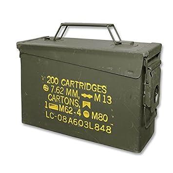 caisse boite a munitions calibre 30 us army en metal vert kaki. Black Bedroom Furniture Sets. Home Design Ideas