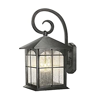 Hampton Bay Y37030 151 Wall Mount 3 Light Outdoor Aged Iron Lantern Wall Sc