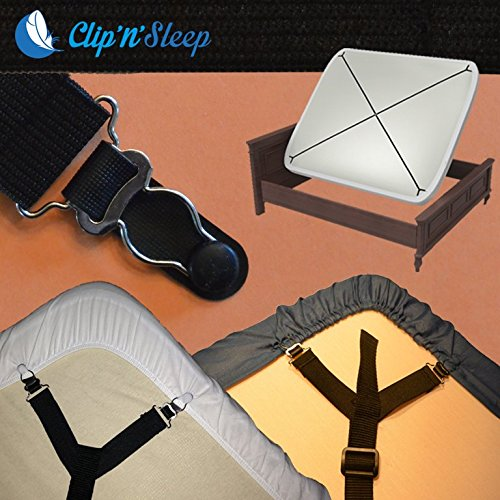 Buy Discount NEW Clip'n'Sleep - Bed Sheets Clips Grippers Fasteners Suspenders Elastic Holder (King)