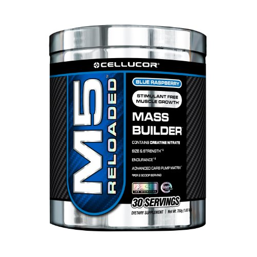 Cellucor M5 Reloaded Stimulant Free Mass Builder, 30 Servings, Icy Blue Razz