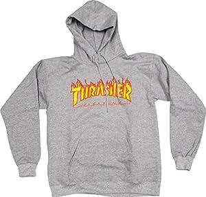 Thrasher Flames Heather Grey X-Large Hooded Sweatshirt