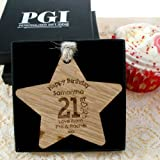 Girls 21st birthday gift, 21st birthday wooden star, personalised 21st birthday gift, 21st birthday ideas