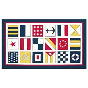 The Rug Market Nautical Flags Area Rug Size - 2 ft 8 in x 4 ft 8 in