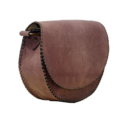 Vintage Autentico italiano in pelle di mucca a mano spalla della cartella della borsa del messaggero