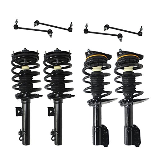 Detroit Axle - All Front & Rear Driver & Passenger Side Complete Strut & Spring Assembly with (4) Sway Bar End Links (2003 Ford Taurus Strut Assembly compare prices)