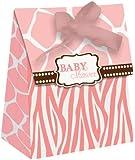 Creative Converting Baby Shower Wild Safari Pink 12 Count Die Cut Favor Bags