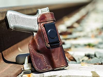 OUTBAGS LOB7S-CZ75SP01 Brown Genuine Leather IWB Conceal Carry Gun Holster for CZ-USA CZ75 SP-01 9mm. Handcrafted in USA.