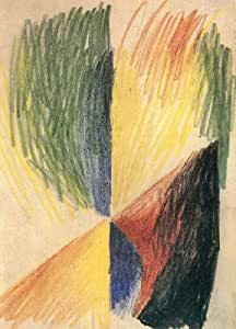 Abstract Form 14 by August Macke peel & stick decal, 10.81 X 15