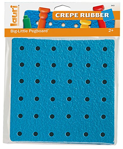 Lauri Toys Big-Little Crepe Rubber Pegboard