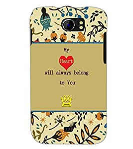 PrintDhaba Quote D-3670 Back Case Cover for MICROMAX A110 CANVAS 2 (Multi-Coloured)