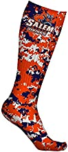 Salem State University Vikings Socks Digicamo Design pair