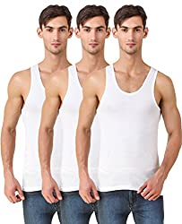 HAP Kings White Roundneck Sleeveless Cotton Vest / Undershirt (Pack of Three)