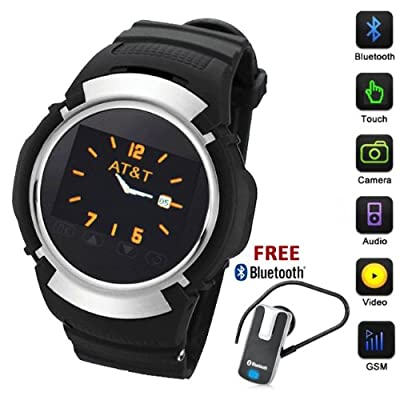 inDigi® Unlocked! Stylish GSM Bluetooth Watch Phone w/ Spy Camera MP3 - AT&T / T-Mobile by inDigi