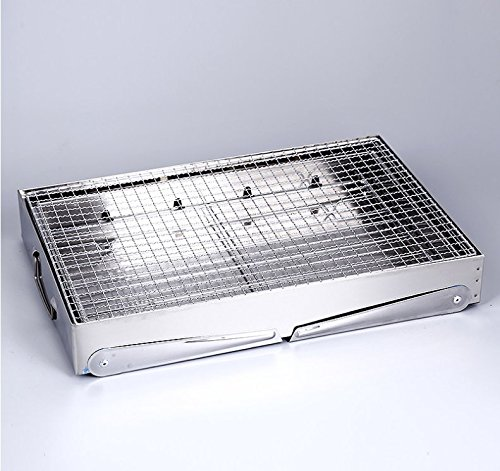 Portable thickened Outdoor Stainless Steel Folding Charcoal Picnic BBQGrill Small Size