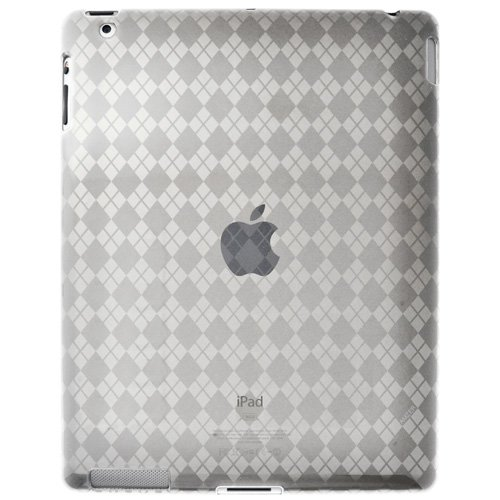 Imagen de Amzer Luxe Argyle High Gloss TPU Soft Gel Skin para Apple iPad 2 - Transparente (AMZ90783)