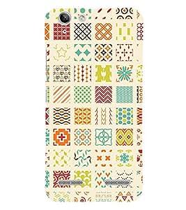 Muli Shape Pattern 3D Hard Polycarbonate Designer Back Case Cover for Lenovo Vibe K5 Plus :: Lenovo Vibe K5+