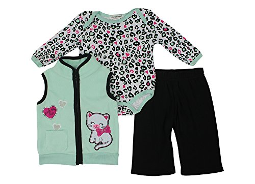 Alfa Global Baby-Girls Infant Three-Piece Micro-Fleece Set Green 6-9 Months back-252448