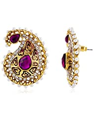 Ava Stud Earrings For Women (Golden) (E-VS-031)
