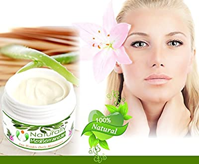 Best Face Cream Daily Moisturizer - with Free E Book - Natural Skin Care Anti-ageing Anti Wrinkle - Facial Moisturizer for Dry, Oily and Sensitive Skin - Moisturizing Cream for Women for Men From Naturally Mediterranean - Face Lifting Firming Cream with A