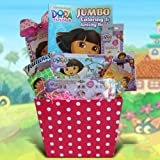 3 R Dora the Explorer Easter Gift Basket Includes Candy , Fun Activities for Girls