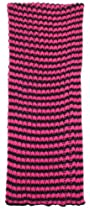 Capelli New York Striped Special Rib Knit Soft Acrylic Loop Muffler Pink Combo