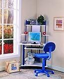 Kings Brand Blue Finish Corner Workstation Kids Children's Computer Desk