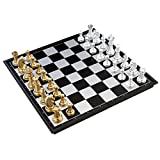チェス ポータブルセット マグネット チェス盤 + 駒 コンパクト収納 クロス MINO Creates