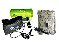 CreativeVia Premium Massage Pro MP-3100 2 In 1 Heat + Vibration With Heating Pad Slimming Belt