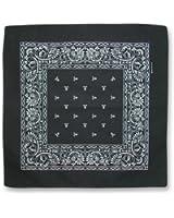 Black Paisley Cotton Bandanna