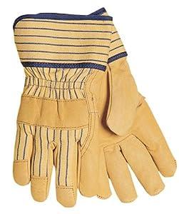 Tillman 1560 Top Grain Pigskin Canvas Back Work Gloves, Large Pkg. 12