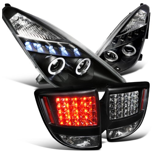 Toyota Celica Black Halo Led Projector Headlights , Led Smoked Tail Lights (Celica Halo Headlights compare prices)