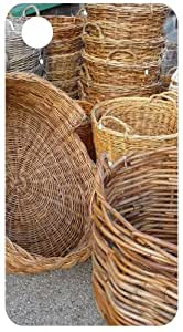 Wicker Baskets Back Cover Case for Apple iPhone 3