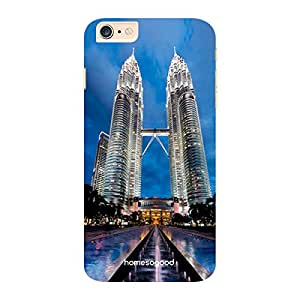 HomeSoGood Petronas Twin Towers Blue 3D Mobile Case For iPhone 6 Plus (Back Cover)