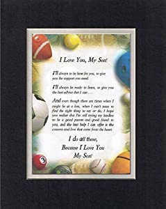 Amazon Com Touching And Heartfelt Poem For Sons Because