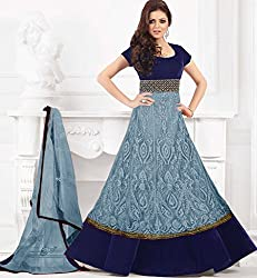 New Grey Anarkali suit